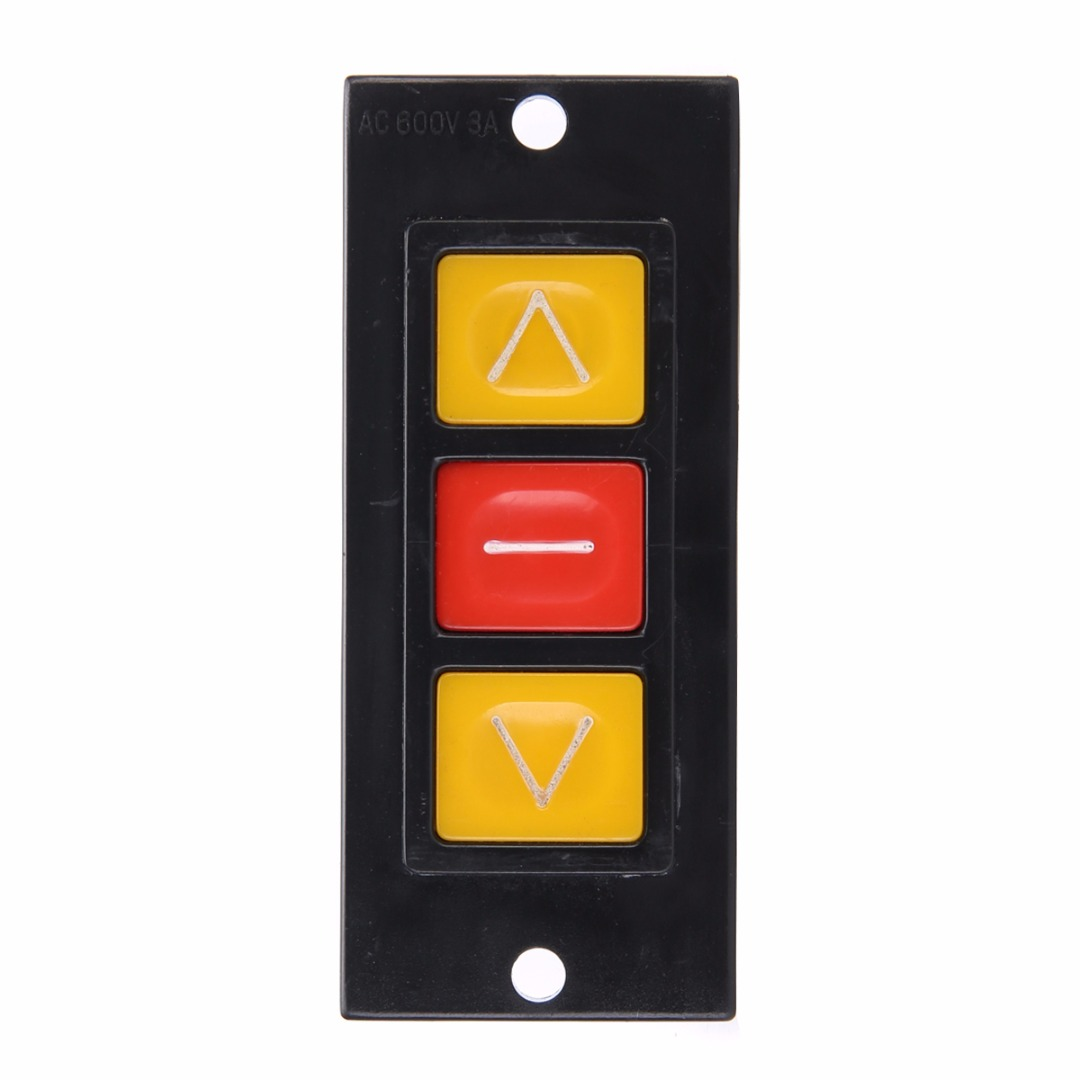 Mayitr Up Down Stop 3 Buttons Switch Black Plastic Housing ...