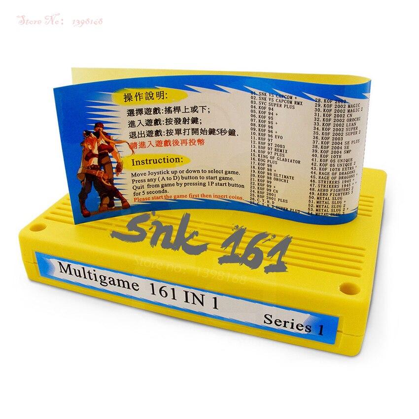 SNK 161 in 1 giochi di SNK Carrello MVS Cassette Neo Geo Jamma 161 in 1 Multi Gioco Cartuccia Multigioco PCB bordo