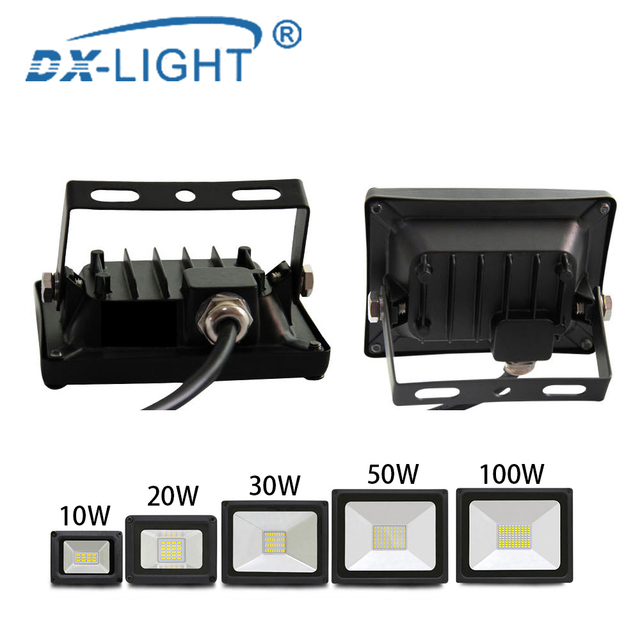 Led Flood Light 220V-240V Outdoor Spotlight Floodlight 10W 20W 30W 50W 100W Wall Lamp Reflector IP65 Waterproof Garden Lighting