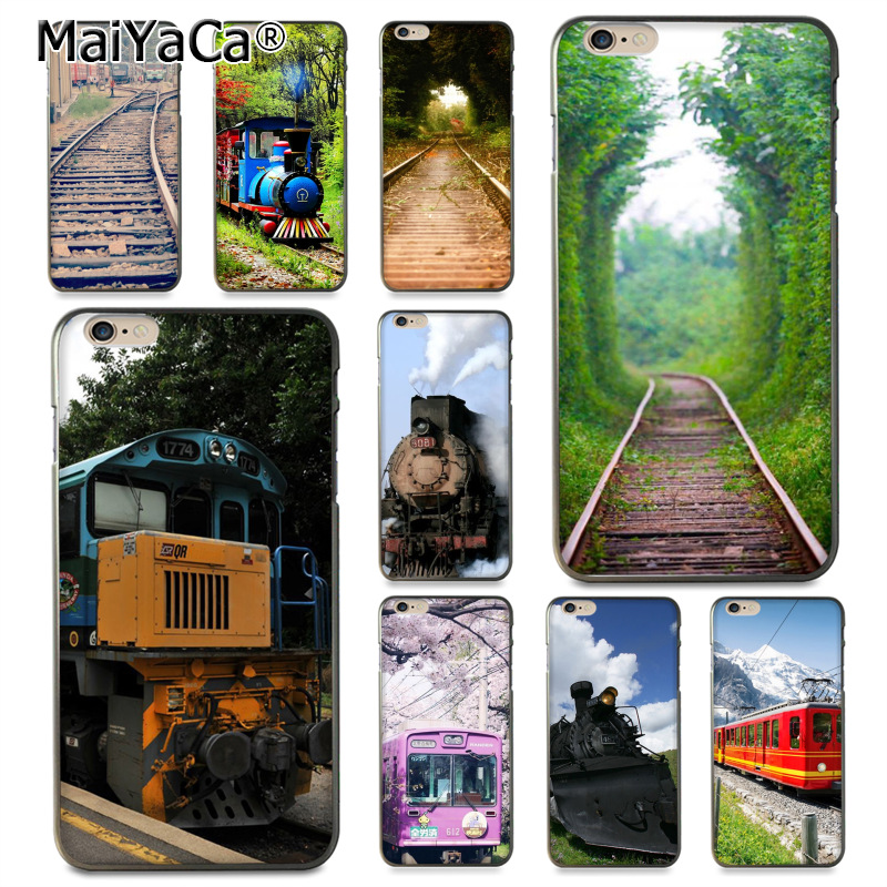 MaiYaCa The railway Coque Shell Phone Case for Apple iPhone 8 7 6 6S Plus X 5 5S SE 5C Cellphones