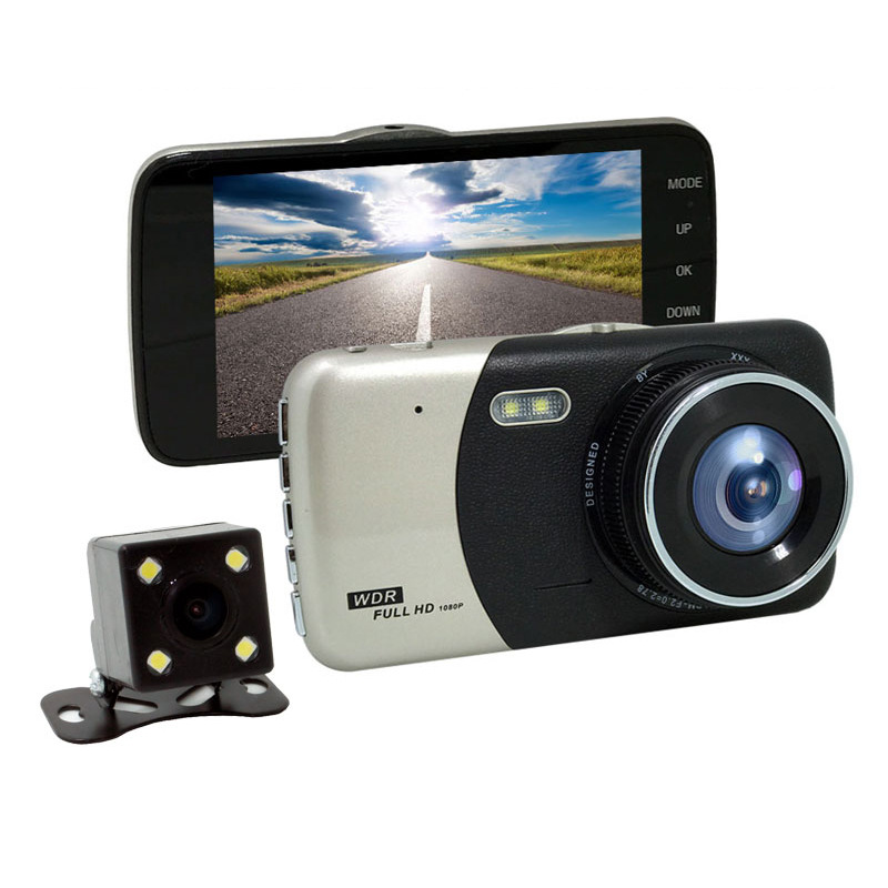 Dual Cameras 4 inch Car font b DVR b font font b Camera b font Dash