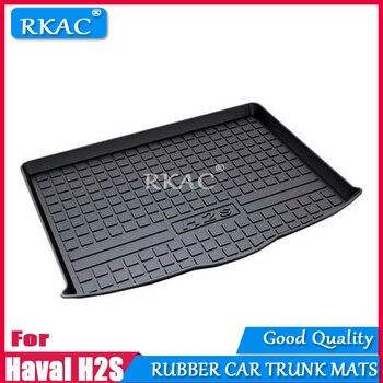RKAC Rubber mats car trunk mats custom fit for Haval H2S 2017-2018 car rear cargo boot liner auto  organizer car accessories