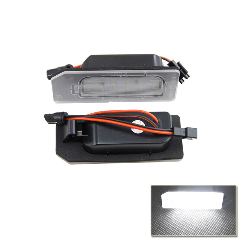 Auto Car Led Number License Plate Lights Lamp Bulb Car Styling Xenon White For Mitsubishi ASX Vehicles Tail Rear Lamp