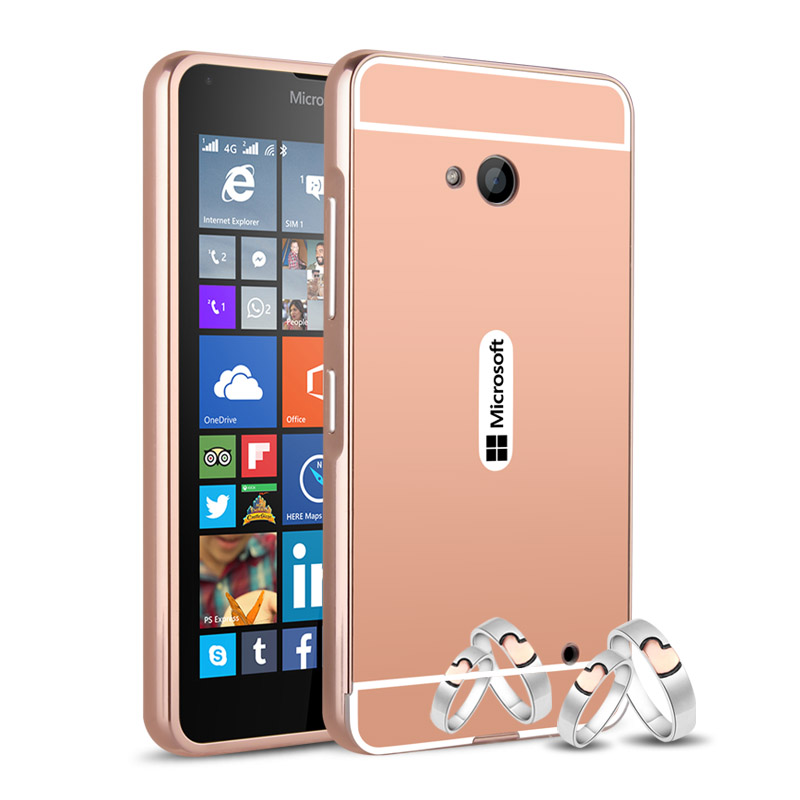 official photos e324c 80e1b US $3.99 |Mirror Back Cover For Microsoft Nokia Lumia 640 Case Aluminum  Metal Frame Set Hot Phone Housing for Lumia 640 XL 535-in Fitted Cases from  ...