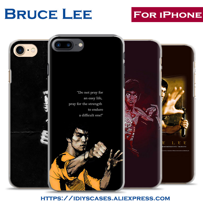 Bruce Lee Chinese Kongfu Originality coque Phone Case Cover Shell Bag For Apple iPhone 7PLUS 7 6SPLUS 6S 6PLUS 6 5 5S SE 4 4S