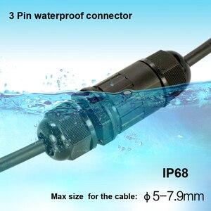 2 Pin IP68 wodoodporne złącze typu I kabel złącze przemysłowe przewód zasilający złącze darmowa wysyłka