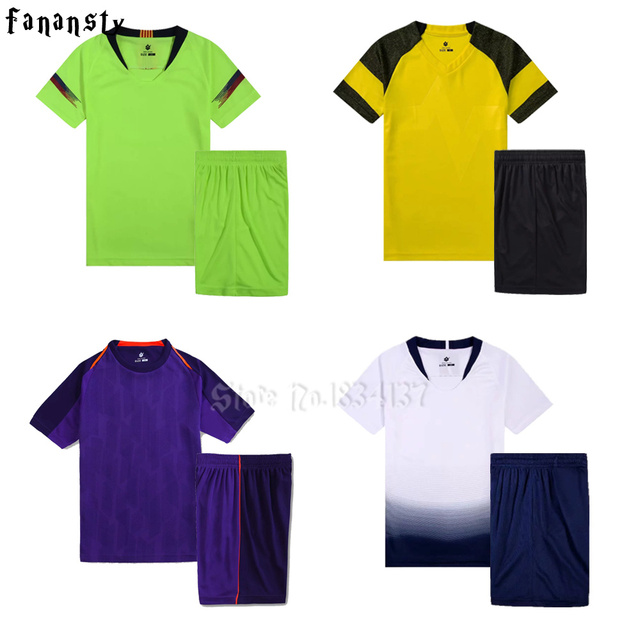 Survetement football jerseys 2018 2019 kids soccer jerseys shirt blank customized boys football uniforms youth sport kits new
