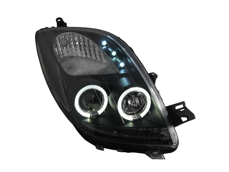 Free shipping for VLAND car Head lamp For Toyota Yaris led  Head lamp 2006 2012 Angel eyes H7 Xenon lamp plug and play design free shipping vland factory car parts for camry led taillight 2006 2007 2008 2011 plug and play car led taill lights