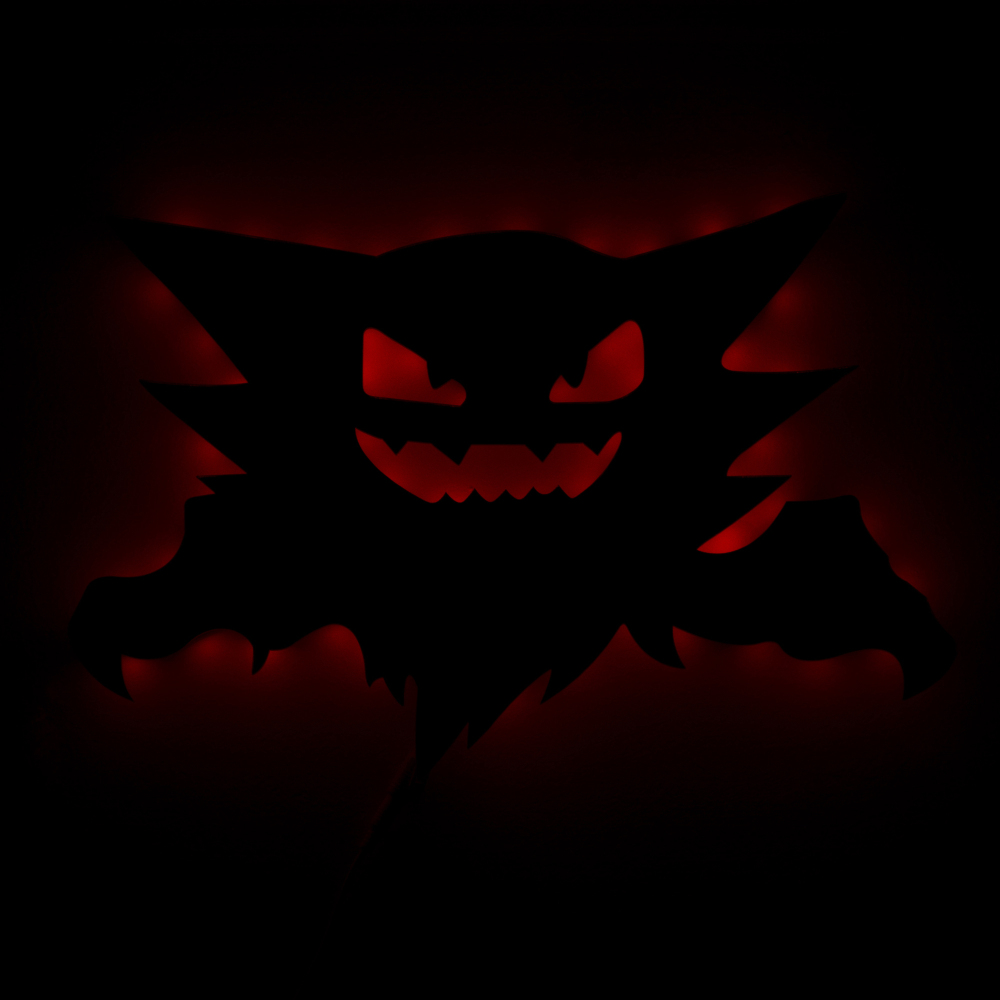 1Piece Remote Controlled Haunter Pokemon LED Backlit Wall Light Hanging Atmosphere Led Light Esclipse Lamp With