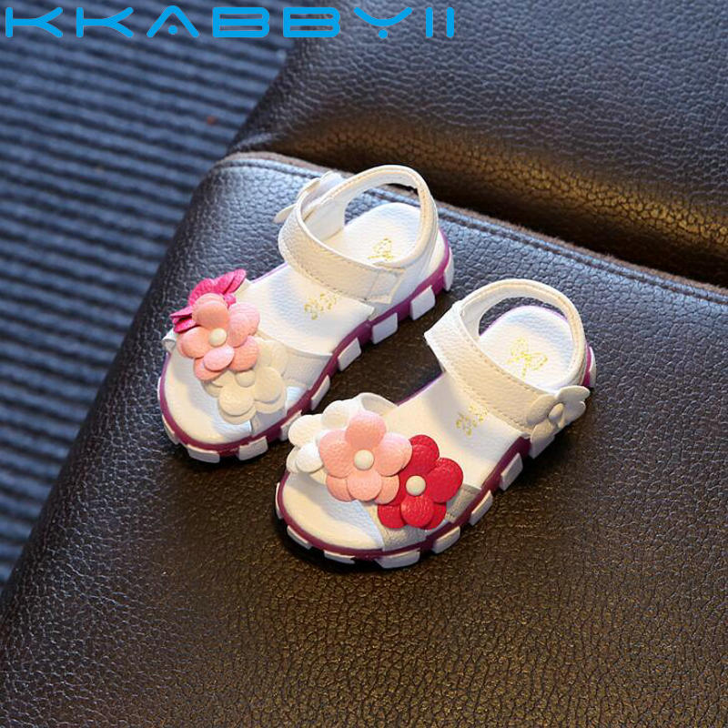 Sandals Girls White Children Summer Shoes Kids Sandals For Girls PU Leather Flowers Princess Shoes Girls SandalsSandals Girls White Children Summer Shoes Kids Sandals For Girls PU Leather Flowers Princess Shoes Girls Sandals