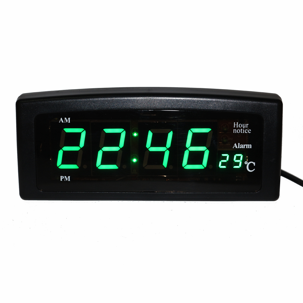 Desktop Digital LED Electronic Alarm Clock with Temperature Display 1.8 Big Digits Easy to Read for Home Office Decorative