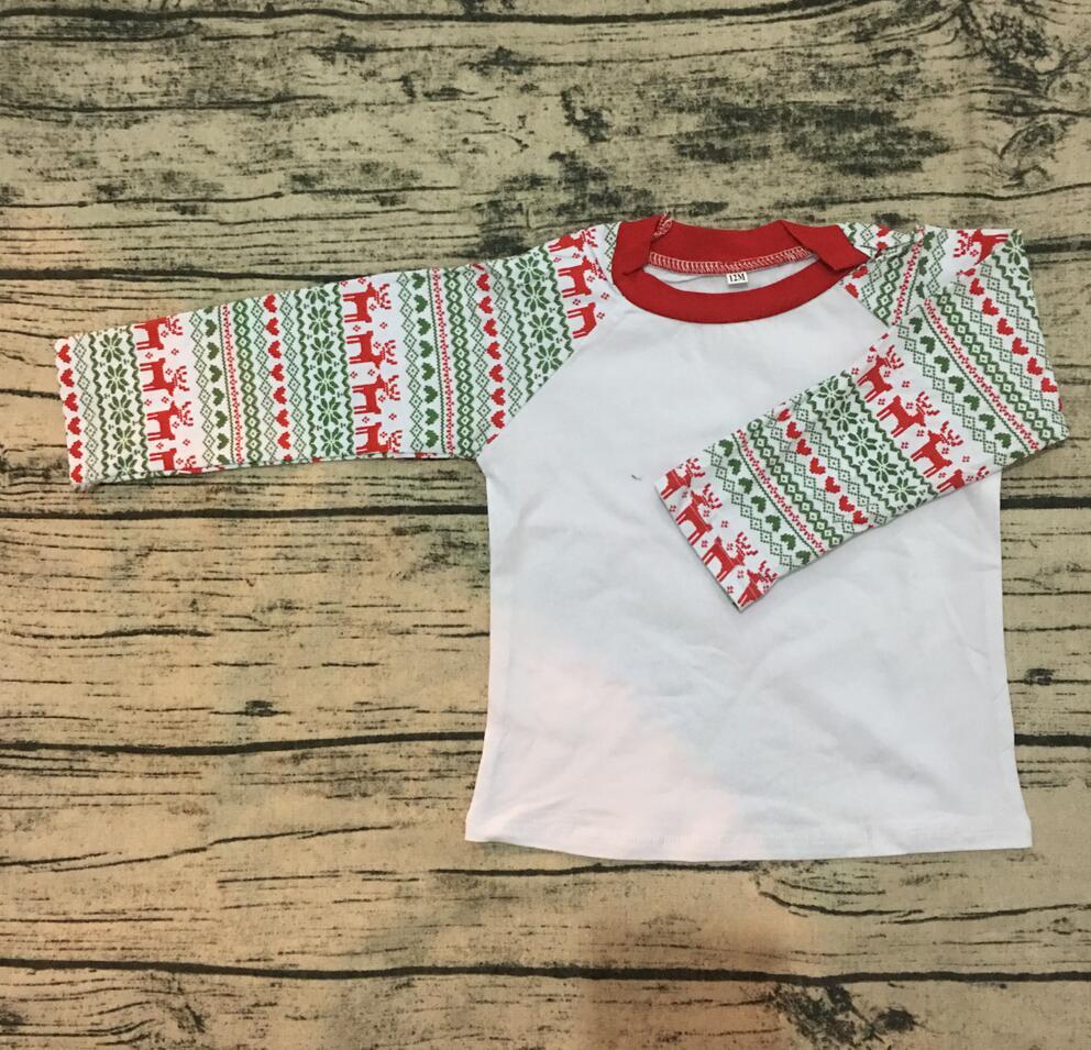 Wholesale children boutique clothing Christmas Elk Printed ...