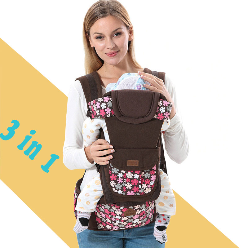 3 In 1 Sling Ergonomic Baby Carrier Comfort Baby Kangaroo Hipseat Newborn Baby Gear Backpack Carrier Infant Holder Pouch Heaps