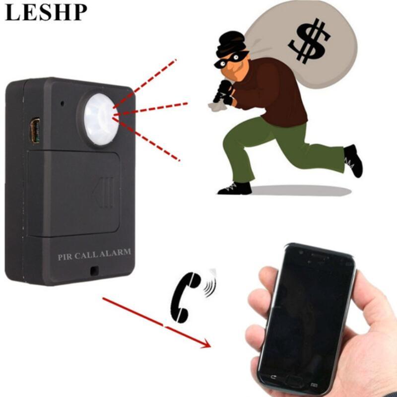 Mini GSM PIR Alarm Motion Sensor Alarm Infrared Wireless GSM Alarm Anti-theft Motion Detector With EU Plug High Sensitivity