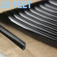 Negro 20 pies Door Edge moldura Stripe ajuste para Acura SLX 1996-2006