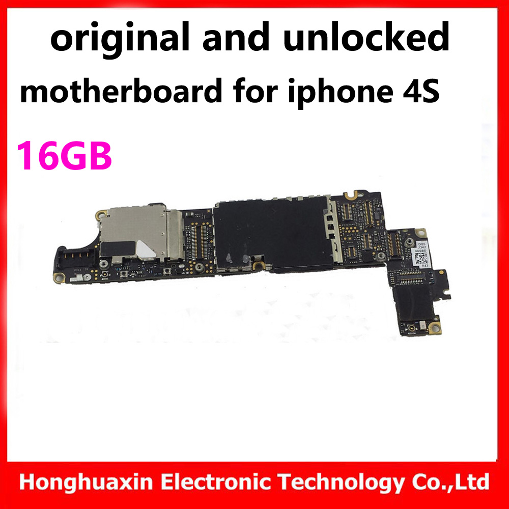 US $47 0 |2pcs free iCloud IOS system board 16GB original motherboard for  iphone 4s unlocked mainboard with chips good working logic board-in Mobile