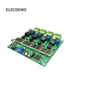 Image 3 - 電源モジュールの多チャンネルスイッチング 4 デジタルディスプレイ LM2596 モジュール DC DC 調節可能な降圧出力電源モジュール