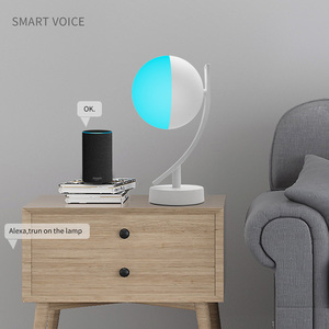Image 2 - Wifi Smart Table Lamp RGBW 7W Dimmable Control Timer Switch Alexa Google home Voice Control LED Desktop Night Light Smart life
