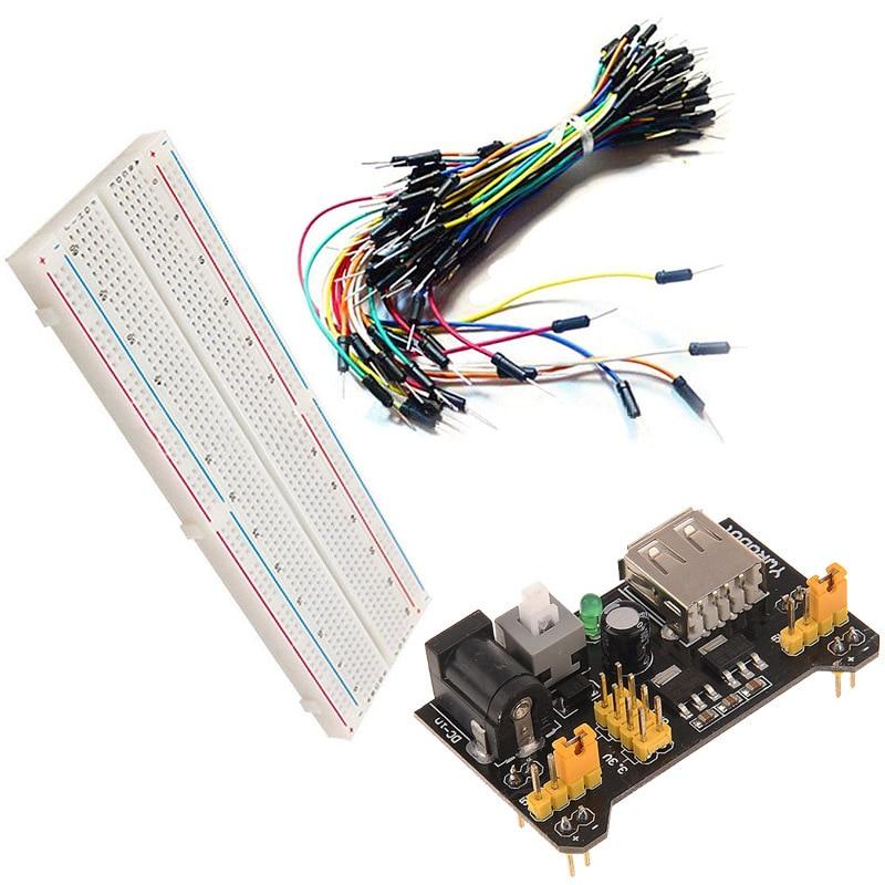 Circuit Diy Breadboard 830 Point Board 65pcs Jumper Wire Kit Set Yc