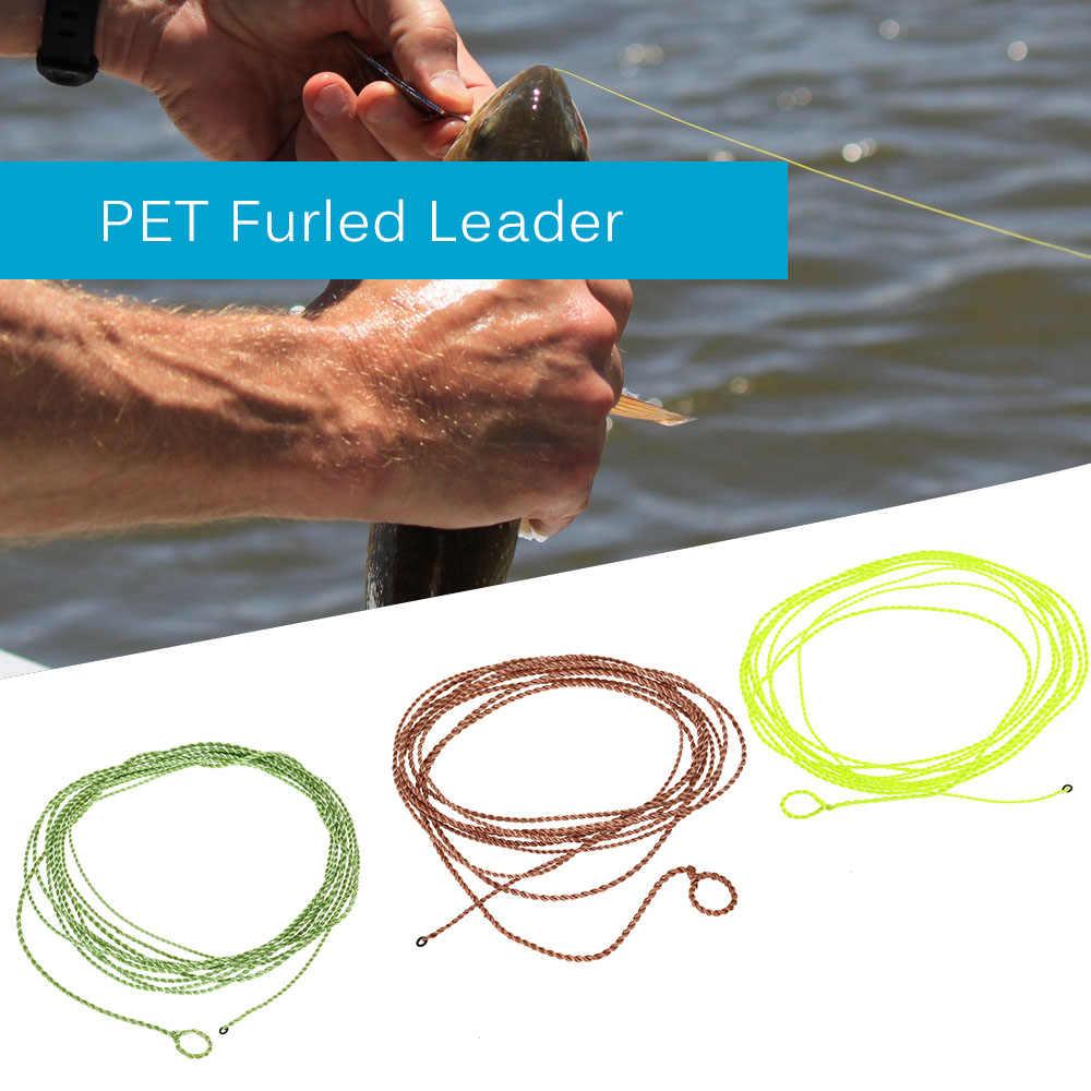 182 cm Fly Fishing với Dòng Cổ Bằng Lông Thú Vòng PET Furled Lãnh Đạo Cá Chép Đánh Bắt Cá cho Pesca