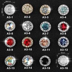 5 pc/pack brillant ongles strass rotatif cristal paillettes diamant Nail Art chanceux pierres précieuses bijoux décoration manucure Accessoires