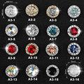 5pc/pack Shiny Nail Rhinestone Rotatable Crystal Glitter Diamond Nail Art Lucky Gemstone Jewelry Decoration Manicure Accessoires
