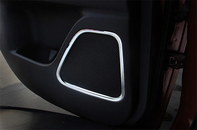 For Mitsubishi Outlander 2013 2014 stainless steel modified decorative circle audio speaker cover ring trim 4pcs per set