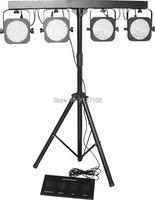 Cheap 4 Set 144PCS RGB LED Par Light DMX Jeux De Lumiere DJ Disco Party Wedding Stage Lighting Equipment 110V 230V Free Shipping