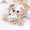 Fashion crystal Crab Keychain gift Company gifts
