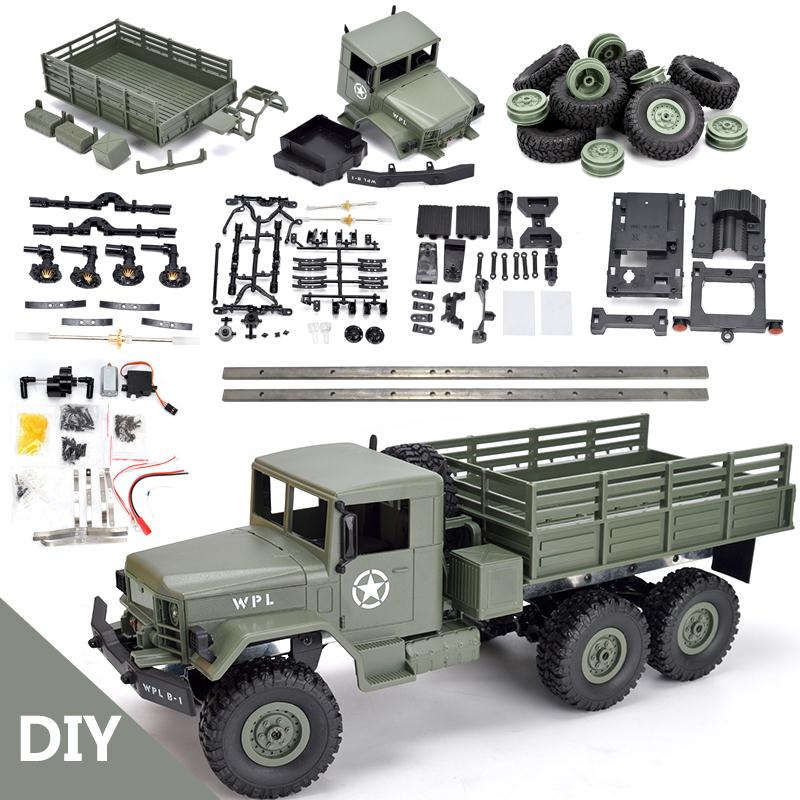 WPL B16K 1/16 remote control military truck 6 wheel drive off road remote control climbing car remote control car conversion acc