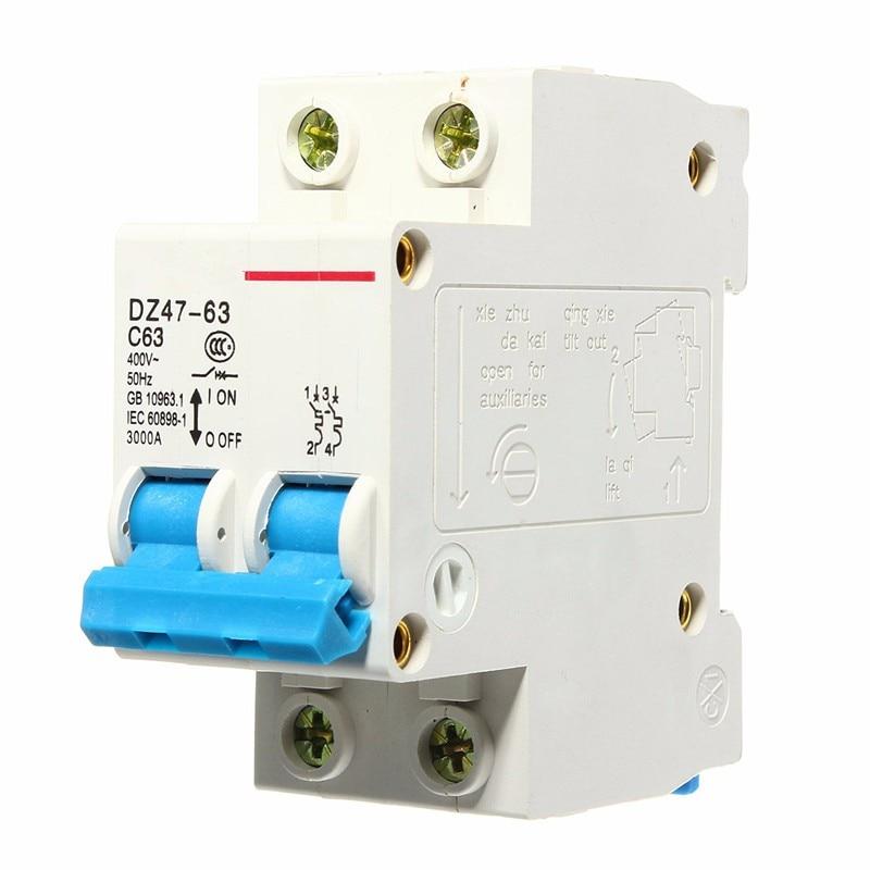 Household Air Switch Miniature Circuit Breaker AC 400V 30A 2P DZ47-63 dhl eub 5pcs new ls miniature circuit breaker rkn 2p 2p 32a 15 18