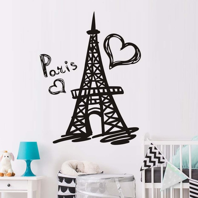Elegant DCTOP Paris Eiffel Tower Wall Decal Vinyl Stickers Paris Symbol Home France  Design Art Murals Bedroom