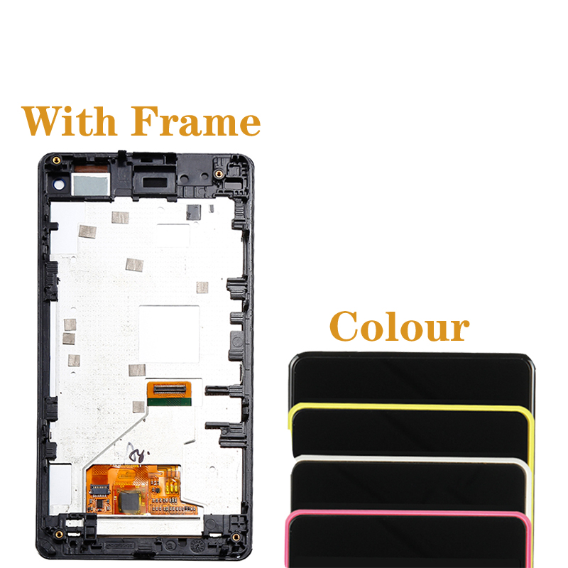 """Image 5 - 4.3"""" AAA quality display For SONY Xperia Z1 Mini D5503 display+touch screen for SONY Xperia Z1 Compact LCD display with frame-in Mobile Phone LCD Screens from Cellphones & Telecommunications"""