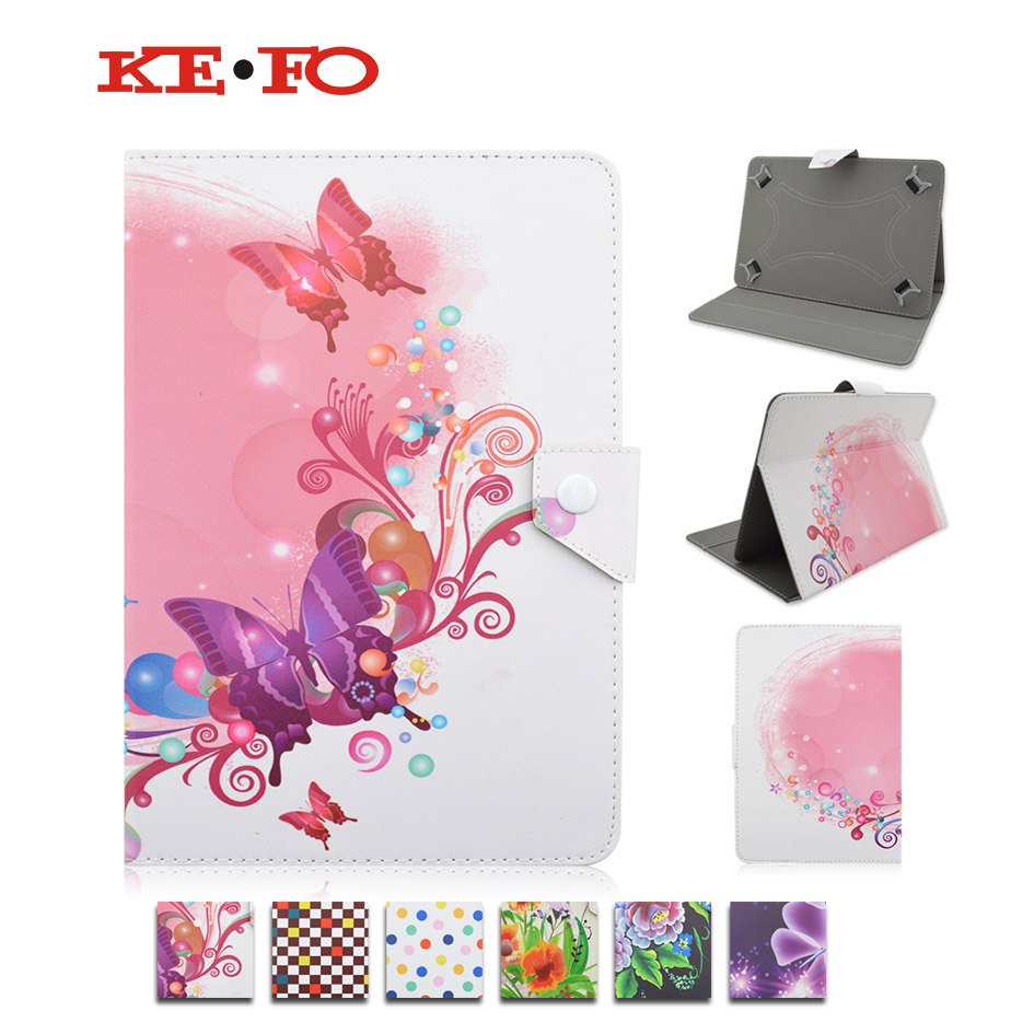 Flower butterfly Universal Flip PU Leather Adjustable Stand Case on Tablets Compact Cover Cases For 10 Inch Tablet PC S4A92D universal 61 key bluetooth keyboard w pu leather case for 7 8 tablet pc black