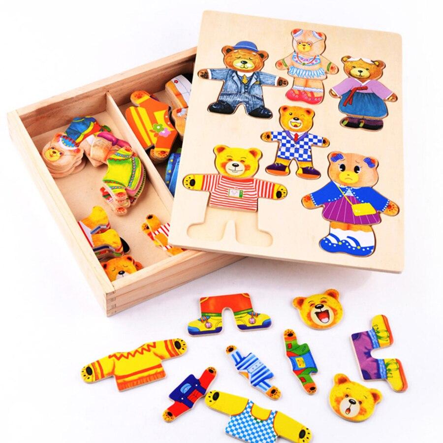 Tangram деревянные головоломки для детей Educationa Новый год Деревянный конструктор фоторамки Aqua бусины игрушки для детей 70B176