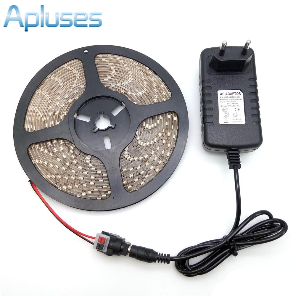 LED páska světlo 3528 5M 300LED vodotěsný flexibilní pásek Sada - LED Osvětlení