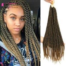 100% Kanekalon 22 Inches High Quality Havana Mambo Crochet Braids Hair Marley Curly Synthetic Braiding Hair Havana Mambo Twist