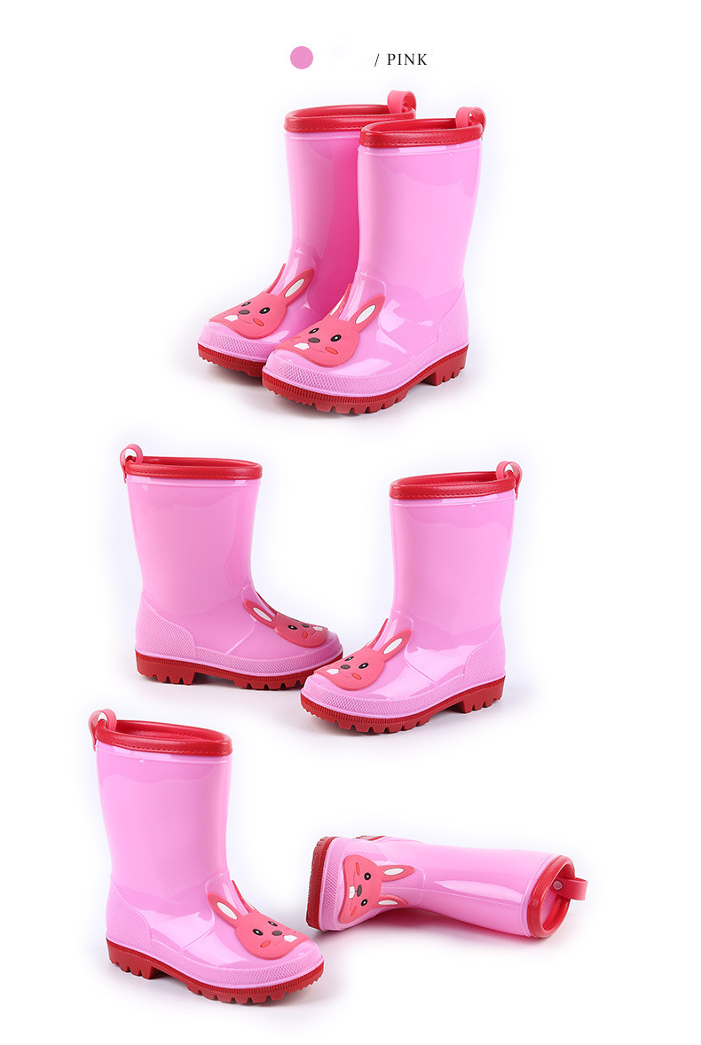 8.Rain Boots Kids for Boys Girls Rain Boots Waterproof Baby Non-slip Rubber Water Shoes Children four Seasons Rainboots
