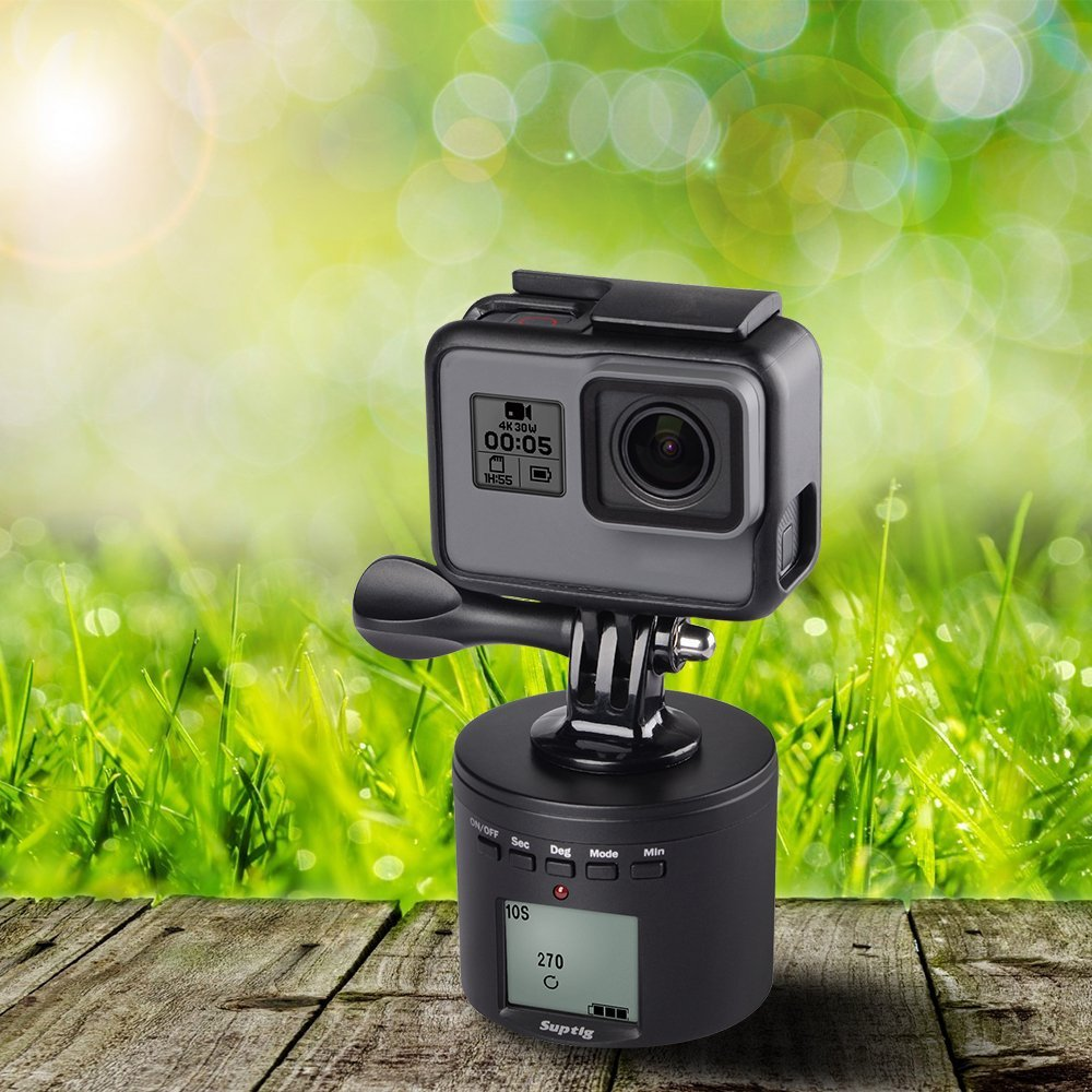 Image 5 - Suptig 360 Degrees Rotating Adjustable Time Lapse Stabilizer +Tripod adapter For Gopro Hero2018 hero6 5 4 3 For xiaomiYI SJ EKEN-in Sports Camcorder Cases from Consumer Electronics