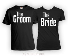 Bride And Groom Shirts His And Her Gifts Matching Couple Outfits Couple Clothes Wedding T Shirts Wedding Present Mens(China)