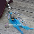 Anslow 2017  Hot Sale Design Feather Keychain Keyholder 4 Colors Tassel Key Ring Key Chain For Women Bag Keys Accessories D002