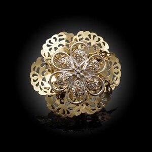 Image 5 - Yulaili Pageantry dekoracyjny wzór Fashion Design zestaw biżuterii dubajskiej duże kwiatowe kształty naszyjnik kolczyki Bracelent Ring