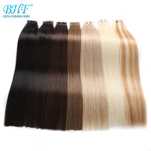 BHF Tape In Human Hair Extensions 100% Human Remy Hair 20pcs straight Tape on Hair Skin Weft extension(China)