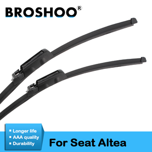 """BROSHOO Car Wiper Blades Rubber For Seat Altea 26""""&26""""R,2004 2005 2006 2007 2008 2009 2010 2011 2012 2013 2014 2015 Fit Claw Arm"""