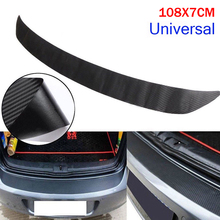 NEW Universal Carbon Fiber Rear Bumper Sticker Car Paint Protector Waterproof Anti-scratch Stickers
