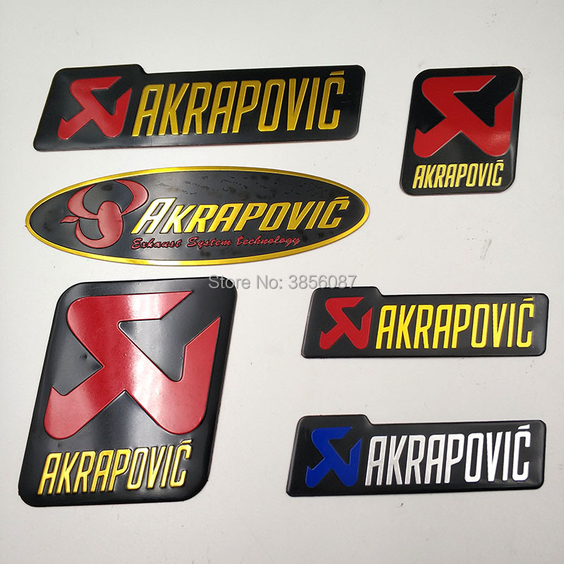 2 PCS FASP Aluminium Motorcycle Exhaust Pipes Decal Cool Personality Arrow  The Brothers Racing  Akrapovic Sticker
