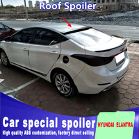 For HYUNDAI ELANTRA rear window wing spoilers high quality ABS spoiler Car Rear Wing primer or black white DIY color paint