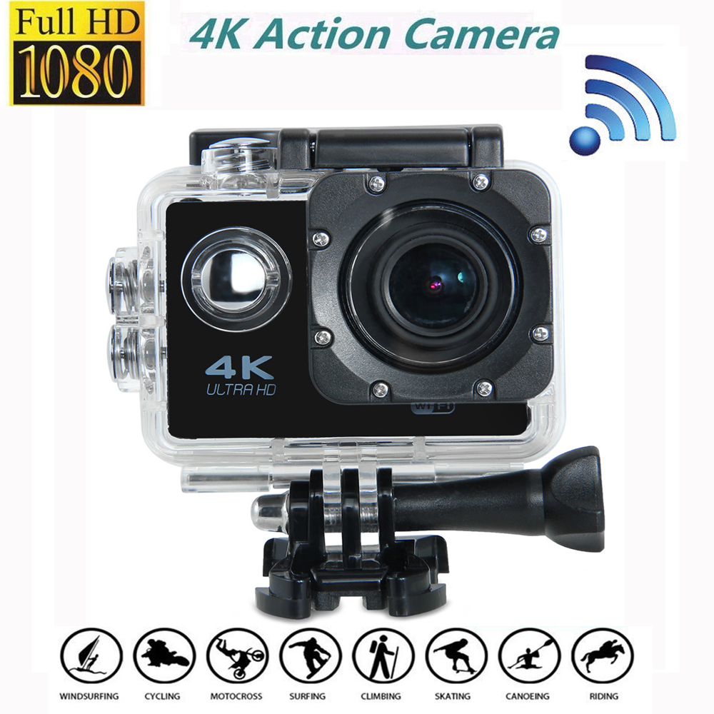 Hot Sale 16MP 4K Action Camera Waterproof  International Edition 170 Degree wide-angle CMOS WIFI 4K Sport Camera Outdoor photo v3 4k wifi sport camera 16mp