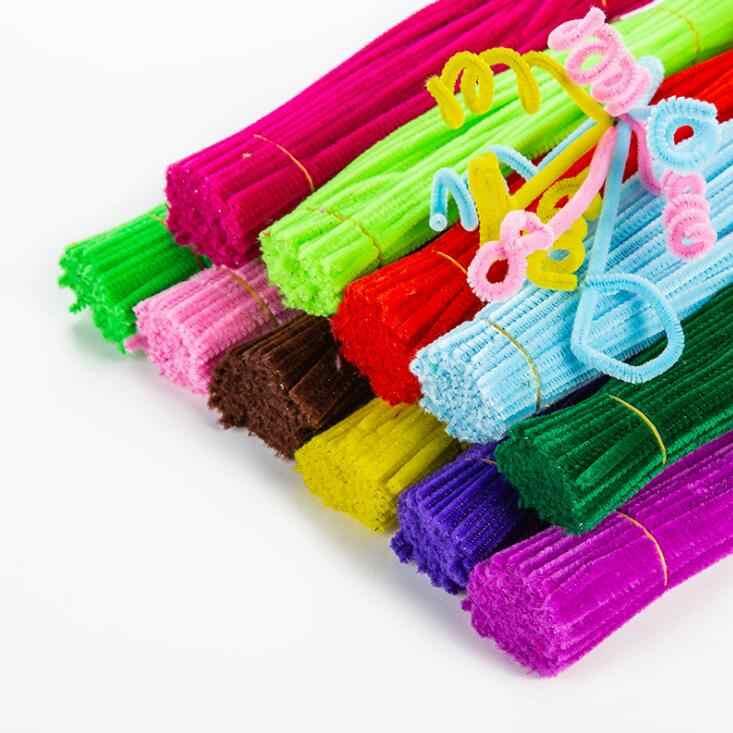 Vara de pelúcia/pompons arco-íris cores shilly-vara brinquedos educativos diy artesanato de arte artesanal criatividade desvoloping brinquedos gyh