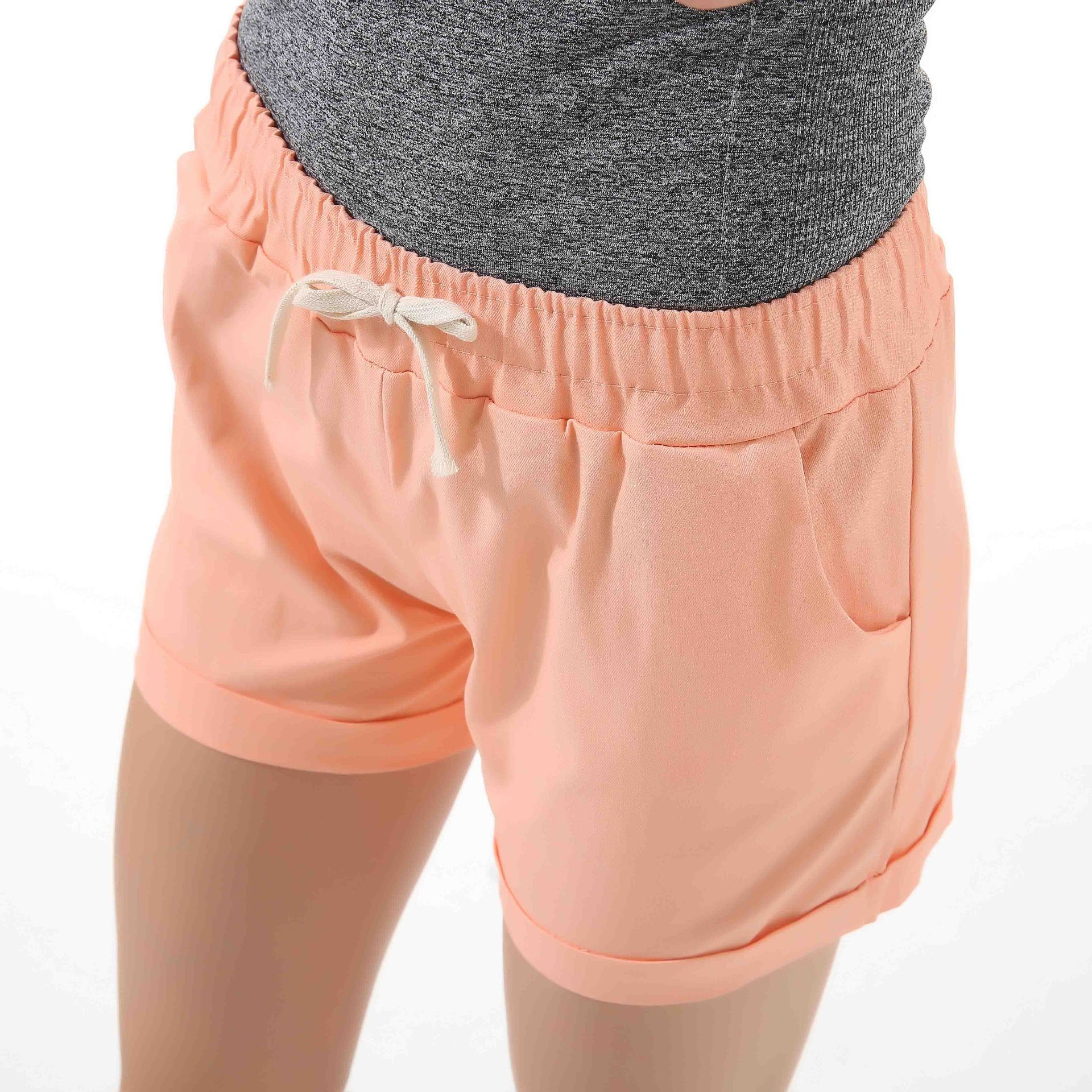 Danjeaner Summer Casual Loose Solid Cotton Shorts Women Fashion Lace Up Sport Shorts High Waist Wide Leg Shorts With Pockets